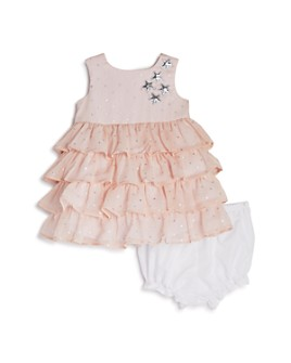 Pippa & Julie - Girls' Ruffled Metallic-Star Dress - Baby