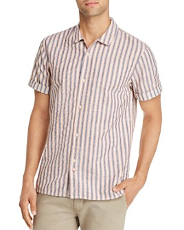 Scotch & Soda - Short-Sleeve Striped Slim Fit Shirt