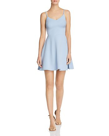 AQUA - Fit-and-Flare Mini Dress - 100% Exclusive