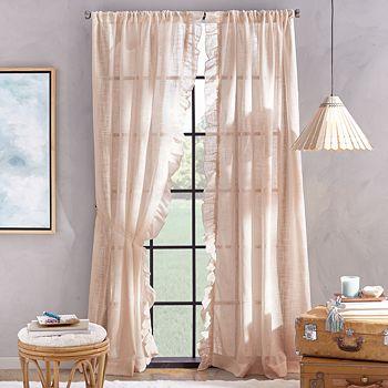 "Peri Home - Arabella Rod Pocket Curtain Panel, 50"" x 108"""