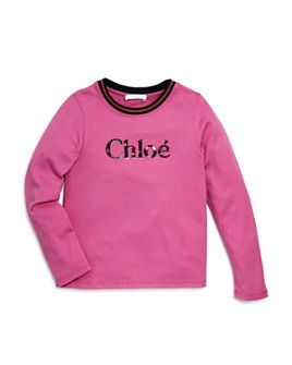 Chloé - Girls' Embroidered Logo Tee - Little Kid
