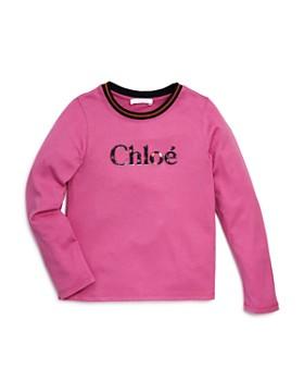 Chloé - Girls' Embroidered Logo Top - Big Kid