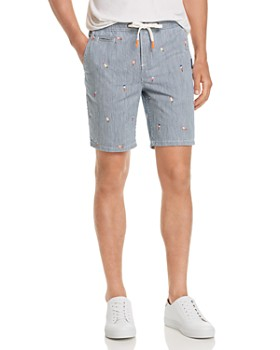 Superdry - Sun-Scorched Embroidered Pinstripe Slim Fit Shorts