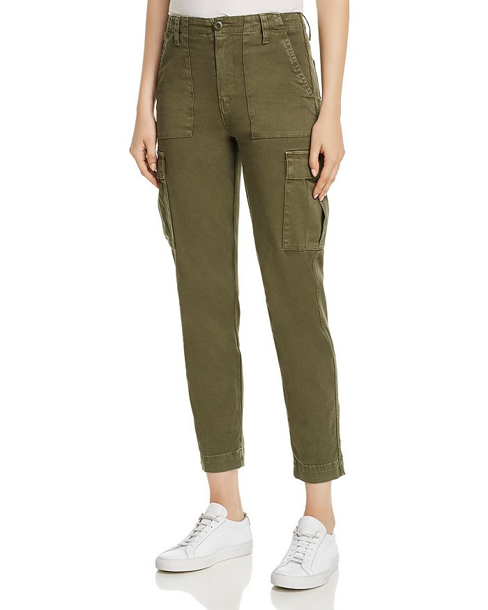 Hudson - High-Rise Cropped Straight-Leg Utility Jeans in Washed Troop