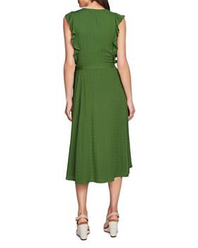 1.STATE - Sleeveless Ruffle-Trim Midi Dress