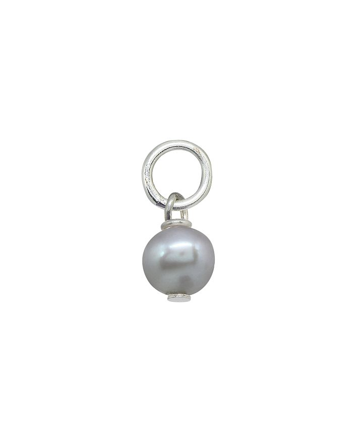 AQUA - Round Cultured Freshwater Pearl Charm in Sterling Silver or 18K Gold-Plated Sterling Silver - 100% Exclusive