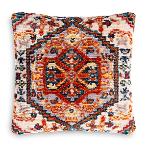 Surya Savona Cream & Orange Throw Pillow, 21 x 21