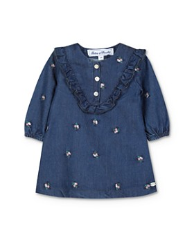 Tartine et Chocolat - Girls' Chambray Floral-Embroidered Dress - Baby