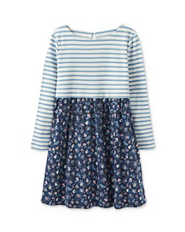 Joules - Girls' Stripe-and-Floral Dress - Little Kid, Big Kid