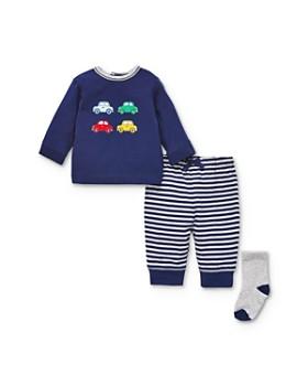 Little Me - Boys' Car Long-Sleeve Tee, Jogger Pants & Socks Set - Baby