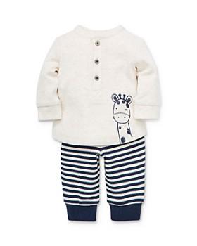 Little Me - Boys' Giraffe Henley & Striped Jogger Pants Set - Baby