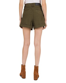 The Kooples - Military-Inspired Lace-Up Mini Shorts