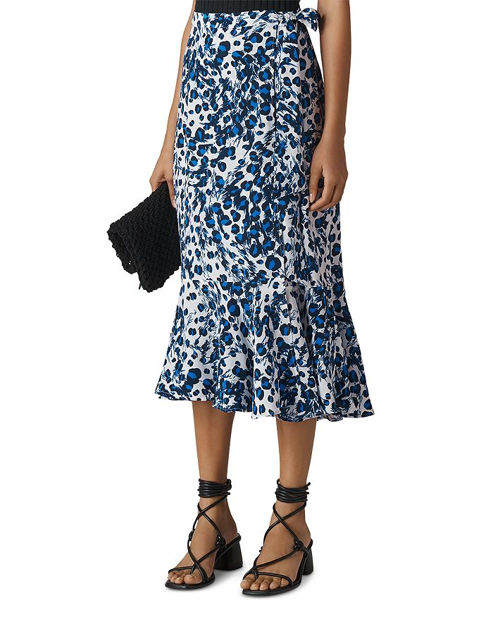 Whistles - Leopard-Printed Wrap Skirt