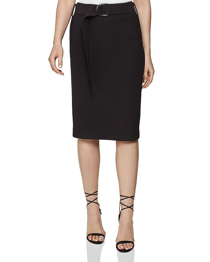 REISS - Delta Belted Pencil Skirt