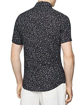 REISS - Kemp Micro Geo Print Slim Fit Shirt