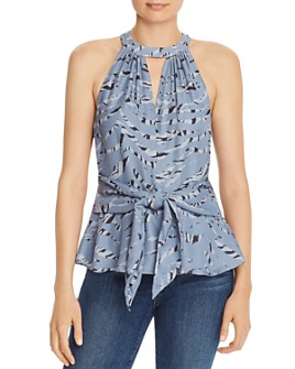 Parker - Alice Silk Blend Sleeveless Tiger-Stripe Top