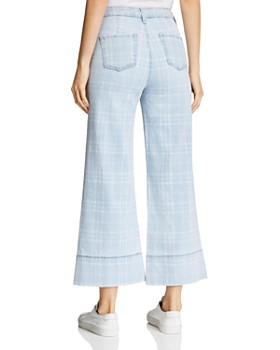 Billy T - Cropped Wide-Leg Plaid Pants