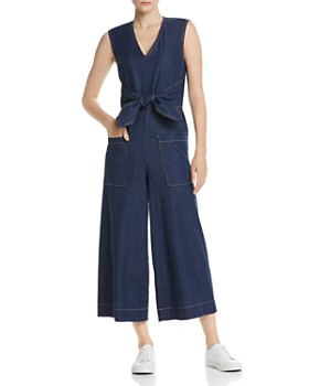 Joie - Wister Sleeveless Cropped Denim Jumpsuit