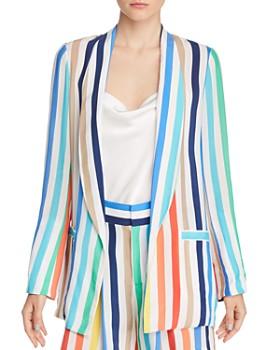 790b3f404295 Alice and Olivia - Kylie Striped Easy Shawl-Collar Blazer ...