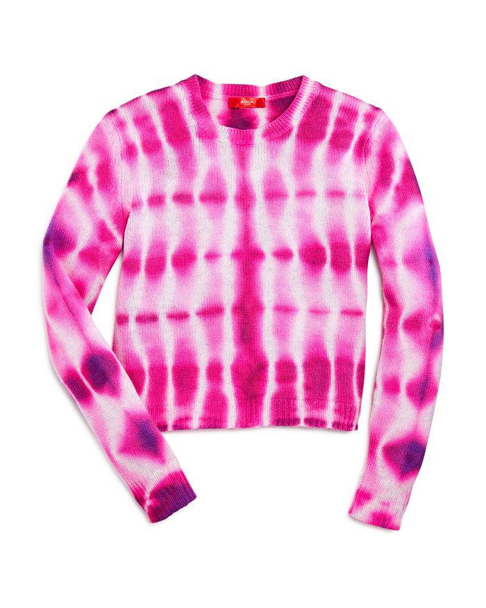 AQUA - Girls' Tie-Dyed Cashmere Sweater, Big Kid - 100% Exclusive