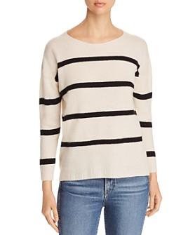 Majestic Filatures - Striped Cashmere Blend Sweater