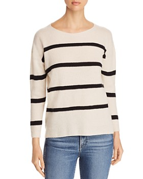 Majestic Filatures - Striped Cashmere Blend Sweater
