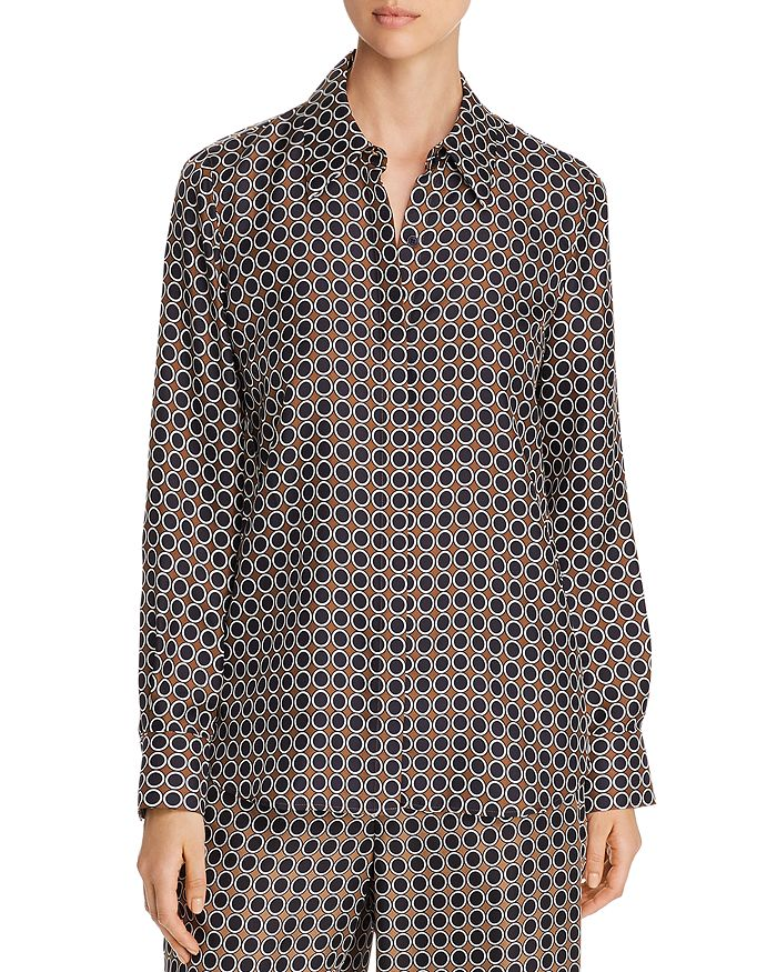 Lafayette 148 New York - Julianne Dot-Print Blouse