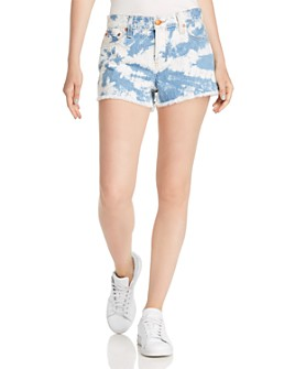 Alice and Olivia - Amazing Mid-Rise Tie-Dyed Vintage Jean Shorts
