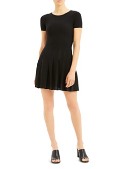 Theory - Short-Sleeve Pleated Dress