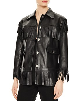 15678fa6555 Women's Leather, Suede, and Shearling Coats - Bloomingdale's