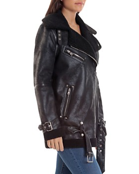 7c90ad070 Women's Leather, Suede, and Shearling Coats - Bloomingdale's