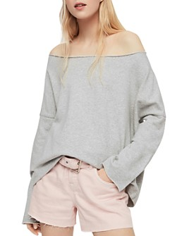 ALLSAINTS - Senia Off-the-Shoulder Sweatshirt