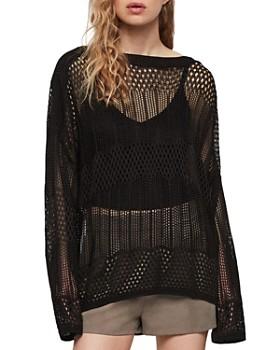 ALLSAINTS - Estero Open-Crochet Sweater