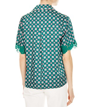 Sandro - Hena Printed Pajama-Style Top