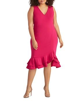 Rachel Roy Plus - Blake Ruffled-Hem Dress