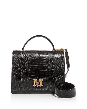 Max Mara - Linda Large Croc-Embossed Leather Shoulder Bag