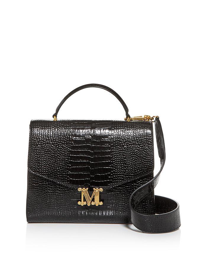 Max Mara - Linda Large Croc-Embossed Leather Shoulder Bag