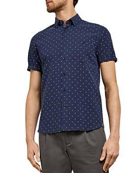 Ted Baker - Bronze Diamond Polynosic Slim Fit Shirt