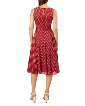 HOBBS LONDON - Della Sleeveless Dot-Print Dress