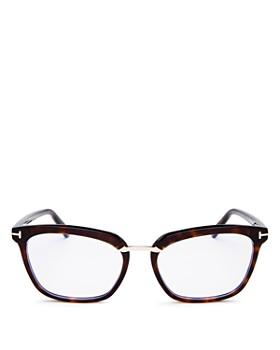 c131c4ec2a63 Tom Ford - Women's Square Blue Filter Glasses, ...