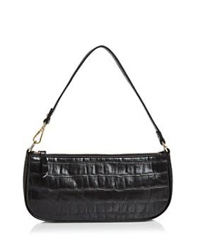 AQUA - Croc-Embossed Shoulder Bag - 100% Exclusive