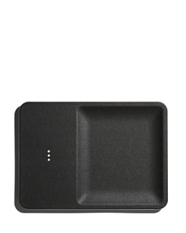 Courant - Catch:3 Leather Wireless Charging Pad and Organizer