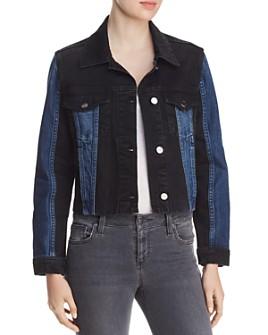 FRAME - Color-Block Denim Jacket