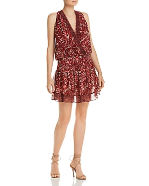 Ramy Brook Dresses WINSTEN LEOPARD-PRINT SILK DRESS