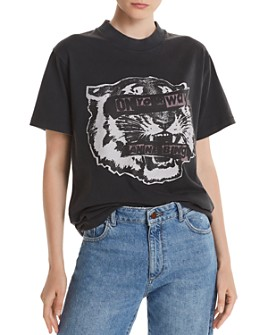 Anine Bing - Basic Tiger Eyes Crewneck Tee