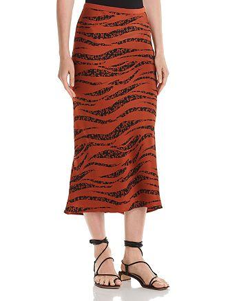 Anine Bing - Bar Zebra Print Silk Midi Skirt