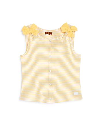 7 For All Mankind - Girls' Striped Bow Tank - Little Kid