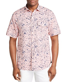 Tommy Bahama - Sun Coral Short-Sleeve Frond-Print Classic Fit Shirt