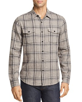 FRAME - Plaid Double Flap-Pocket Regular Fit Shirt