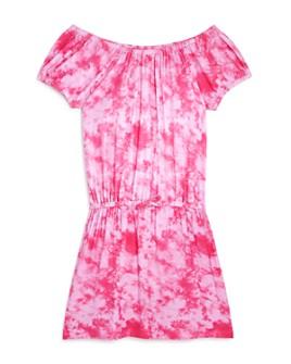 AQUA - Girls' Tie-Dyed Off-the-Shoulder Dress, Big Kid - 100% Exclusive